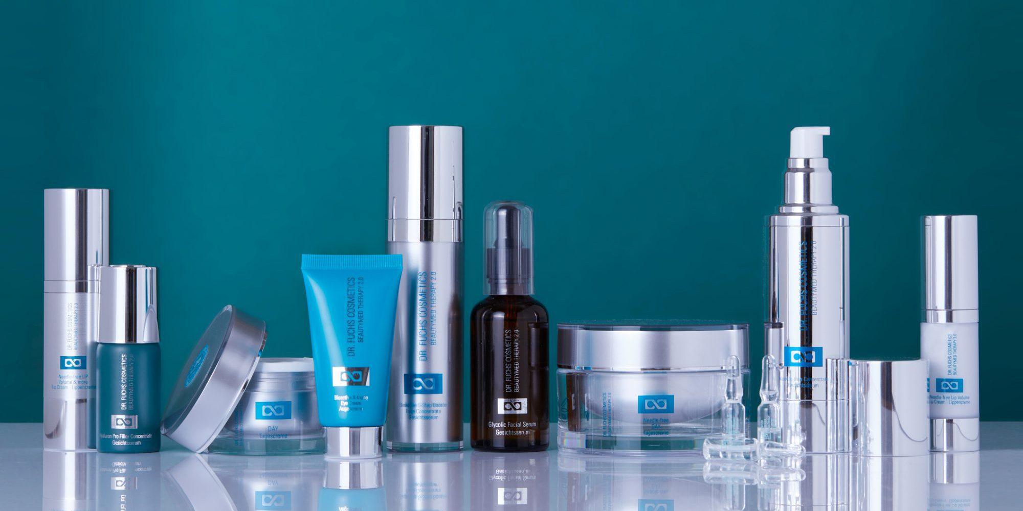 Produktfoto aller Produkte der Dr. Fuchs Cosmetics Beautymed Therapy 2.0