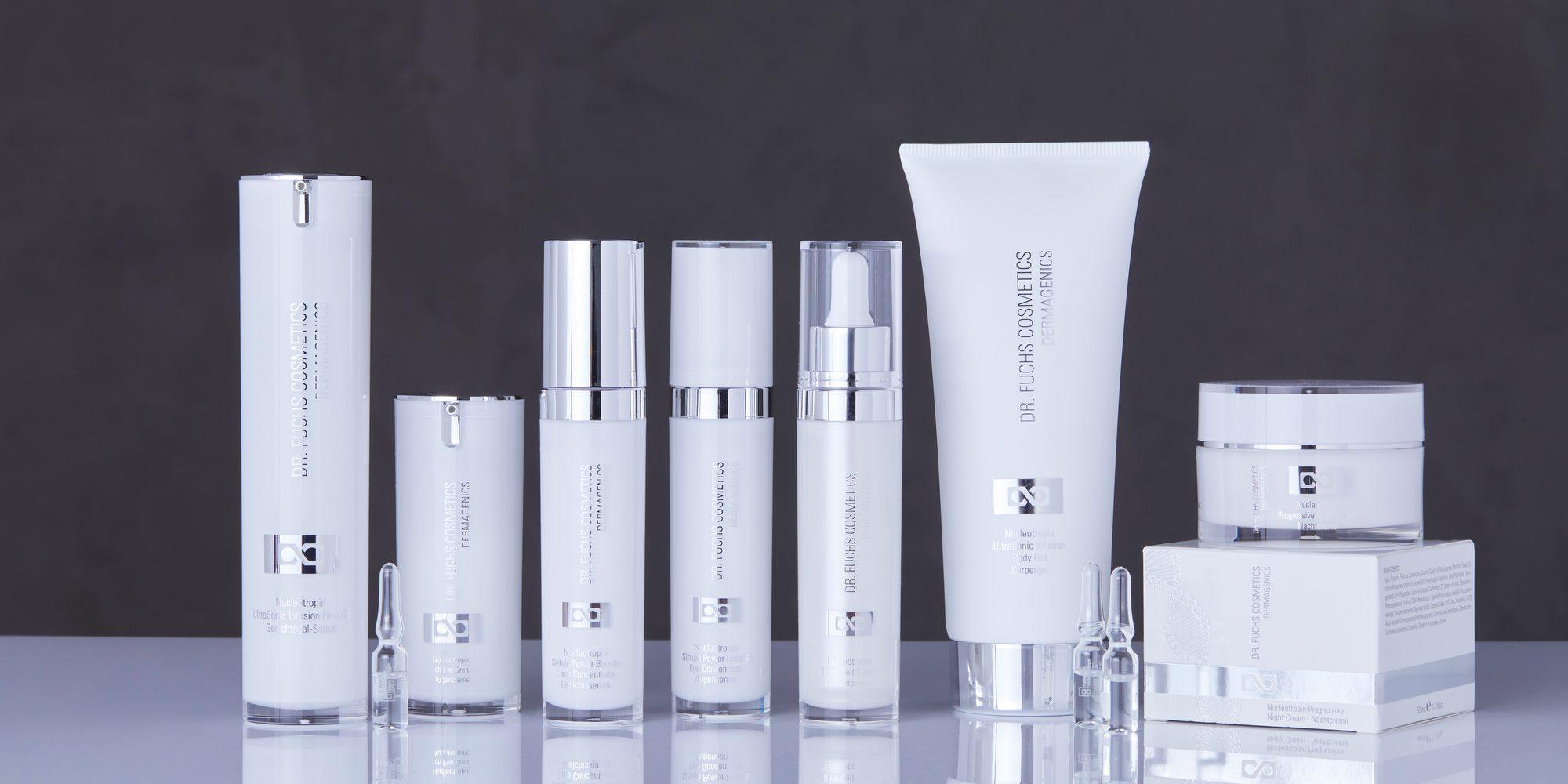 Produktfoto aller Produkte der Dr. Fuchs Cosmetics Dermagenics Linie