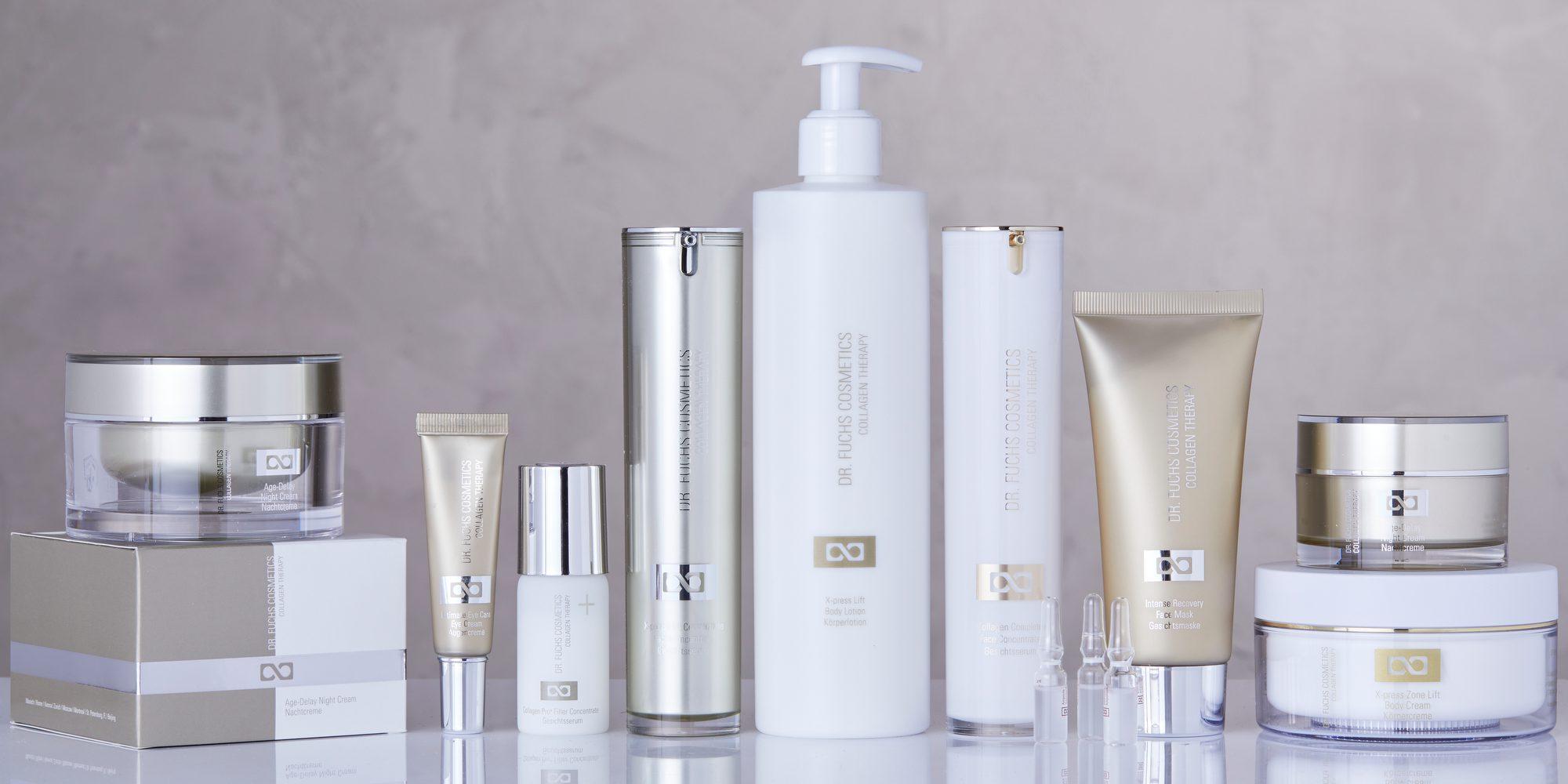 Produktfoto aller Produkte der Dr. Fuchs Cosmetics Collagen Therapy