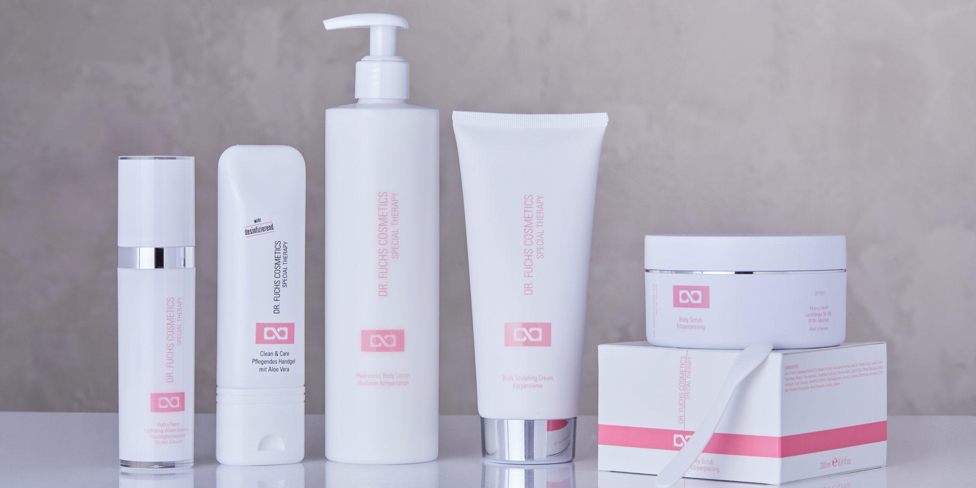 Produktfoto aller Produkte der Dr. Fuchs Cosmetics Special Therapy