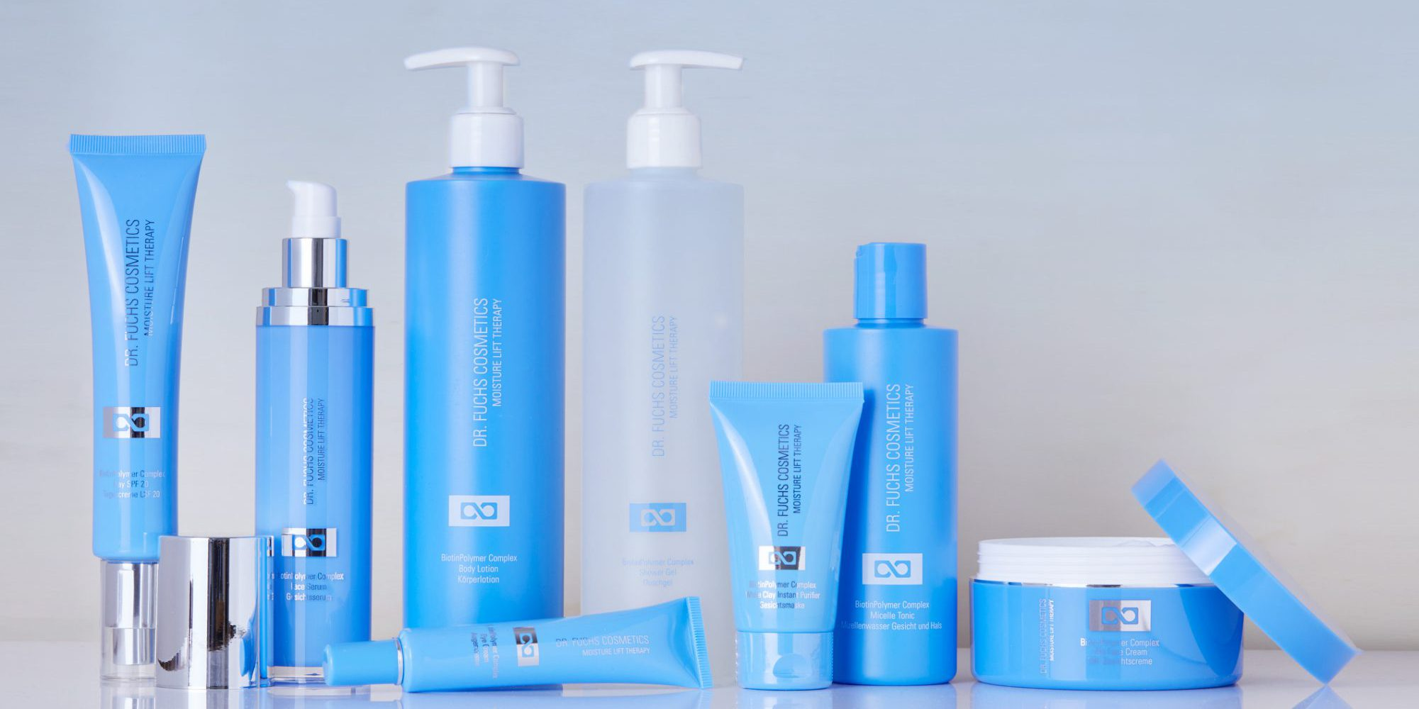 Produktfoto aller Produkte der Dr. Fuchs Cosmetics Moisture Lift Therapy